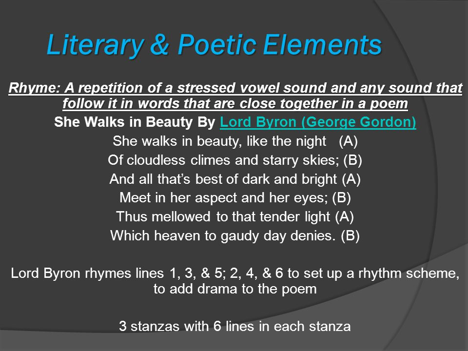 Literary & Poetic Elements