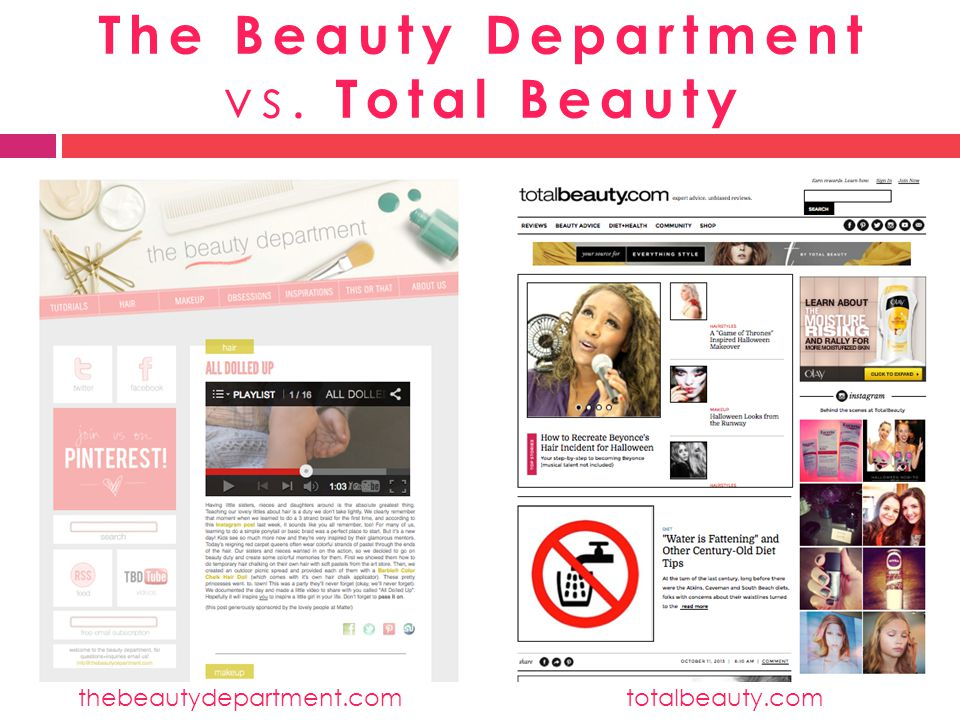 The Beauty Department vs. Total Beauty