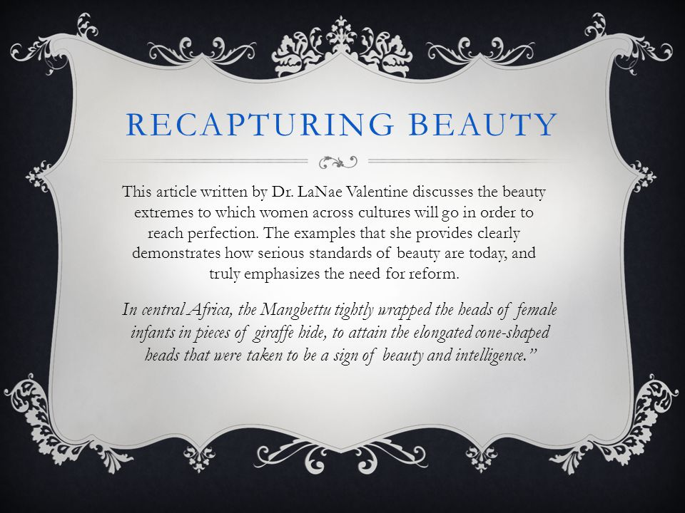 Recapturing beauty