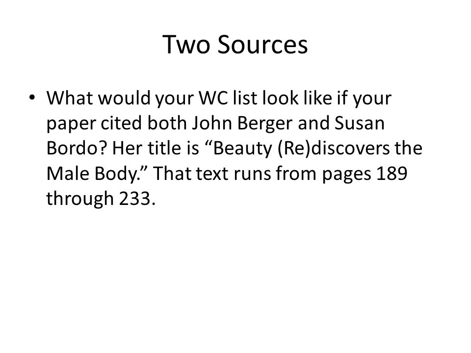 Two Sources