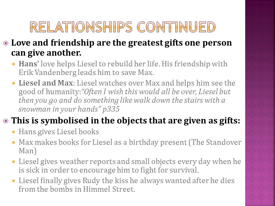 liesel and max relationship quiz