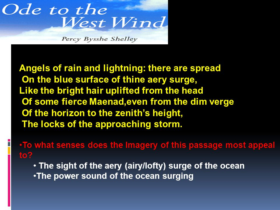 Angels of rain and lightning: there are spread