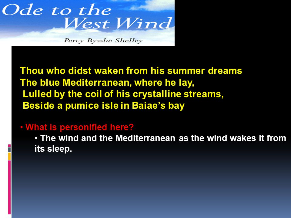 Thou who didst waken from his summer dreams