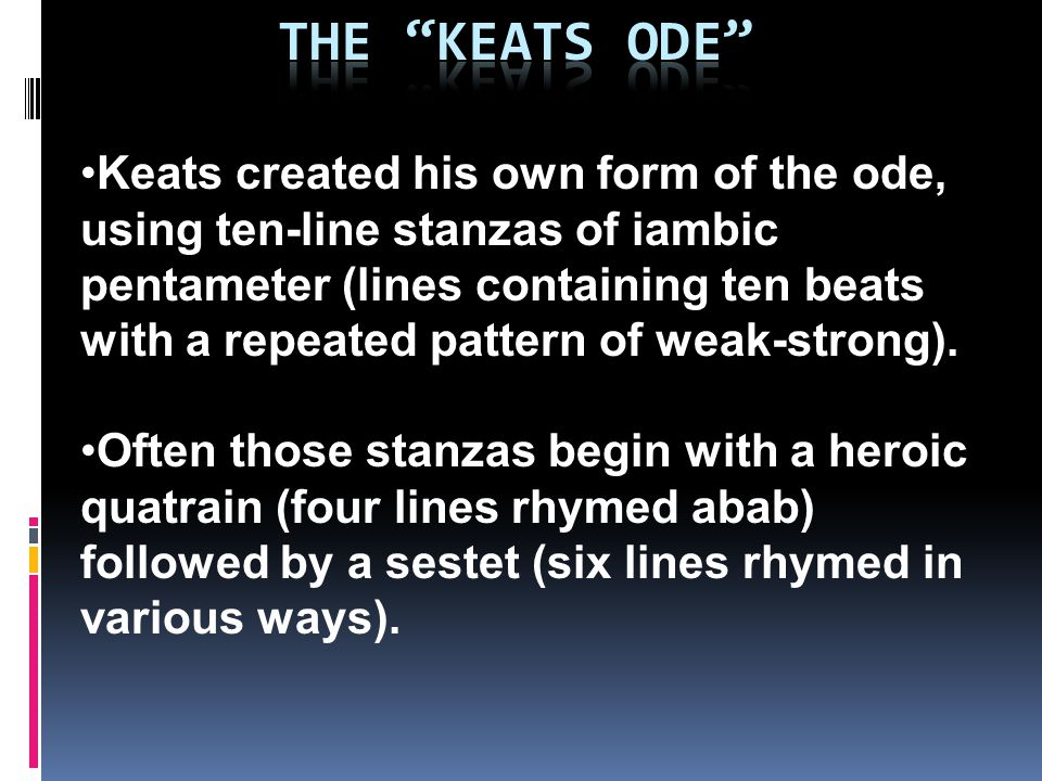 The Keats Ode