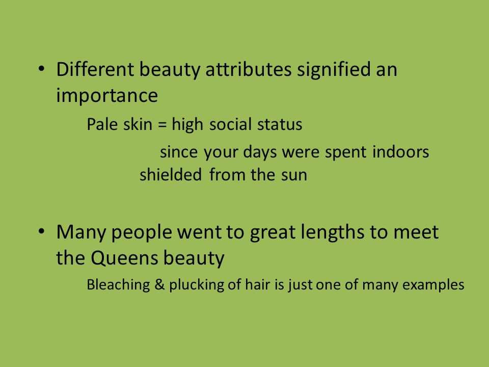 Different beauty attributes signified an importance