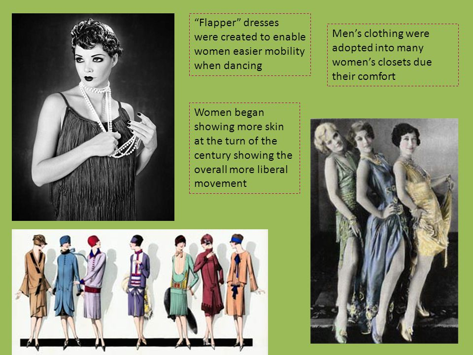 Flapper dresses were created to enable women easier mobility when dancing