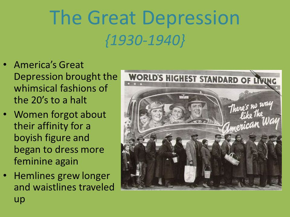 The Great Depression { }