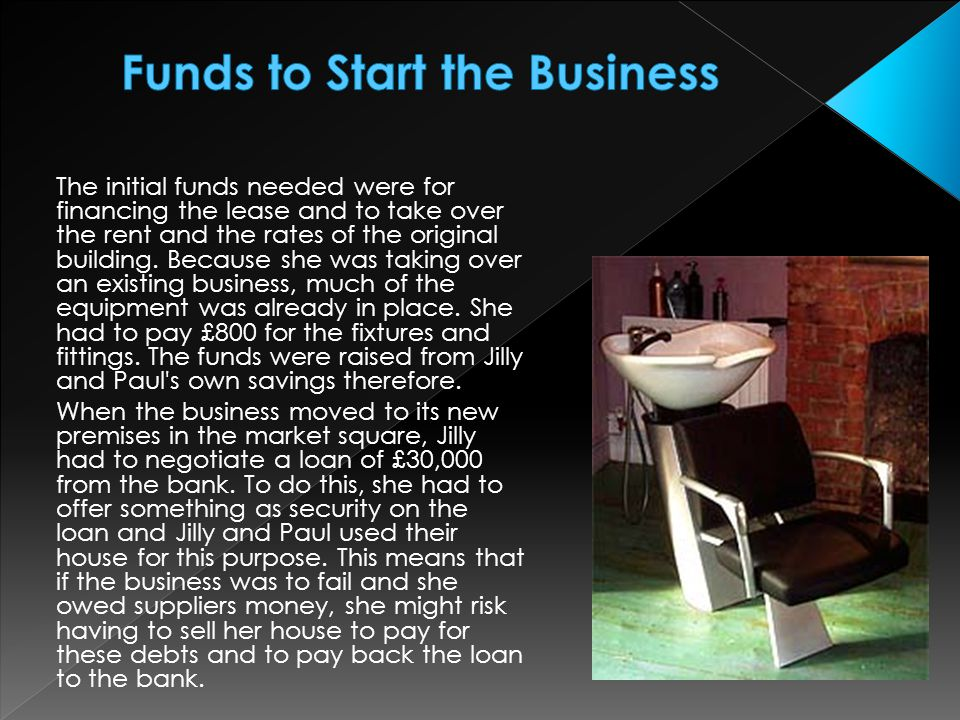Funds to Start the Business