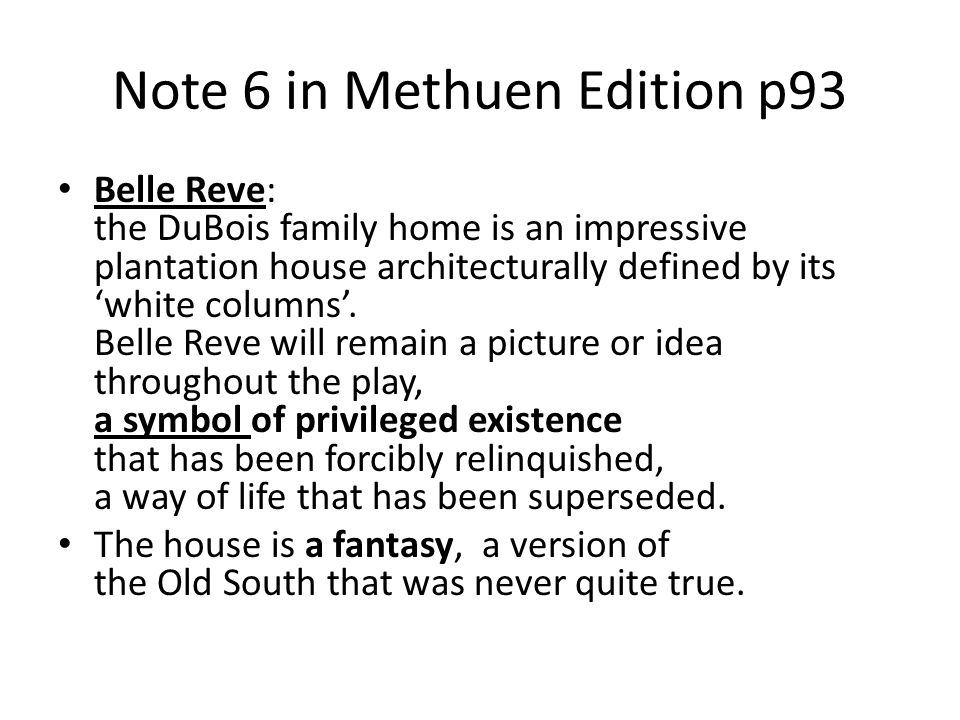 Note 6 in Methuen Edition p93