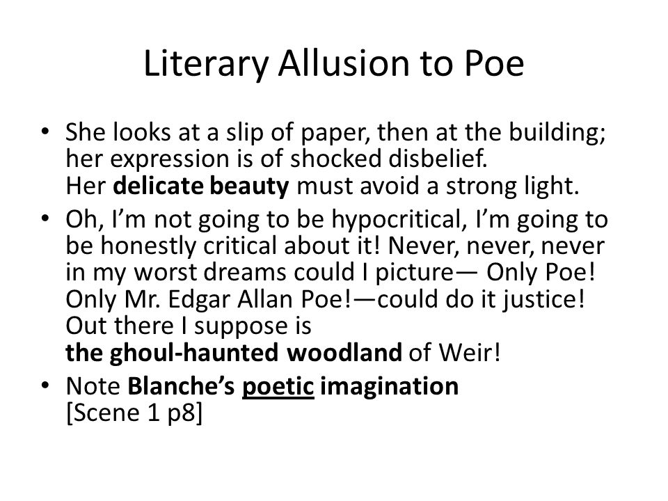 Literary Allusion to Poe