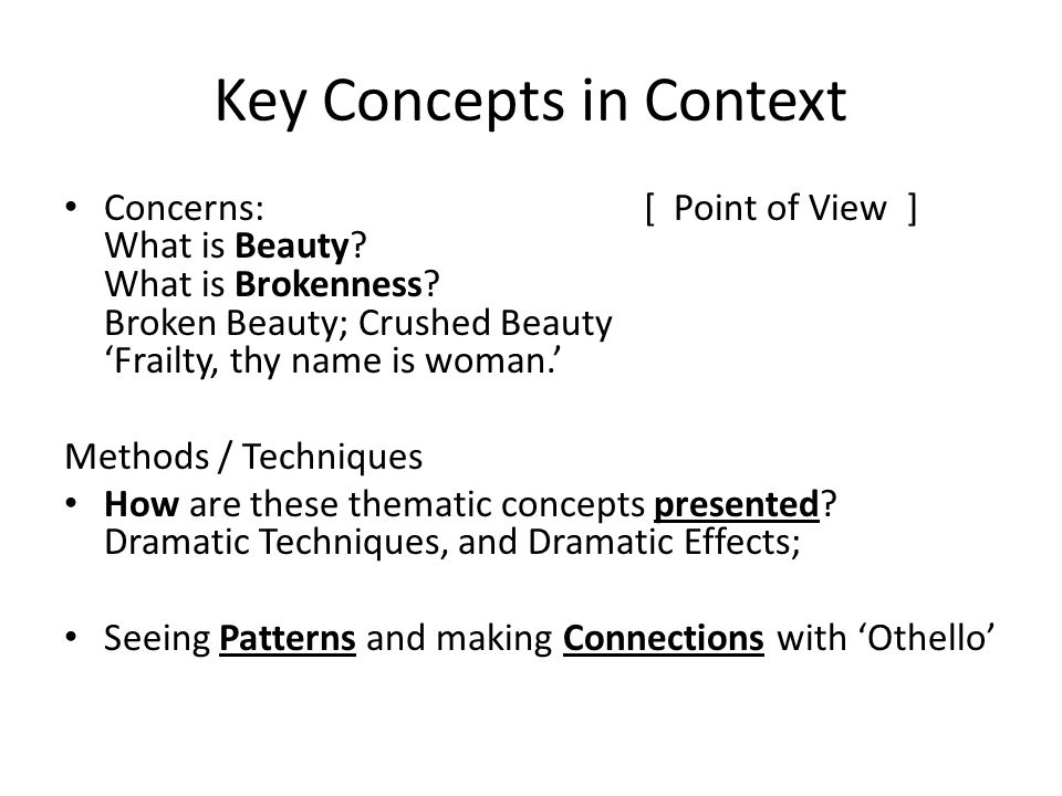 Key Concepts in Context