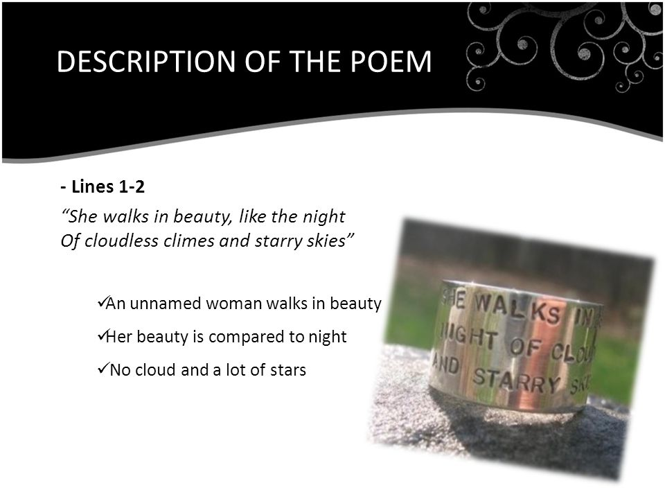 DESCRIPTION OF THE POEM