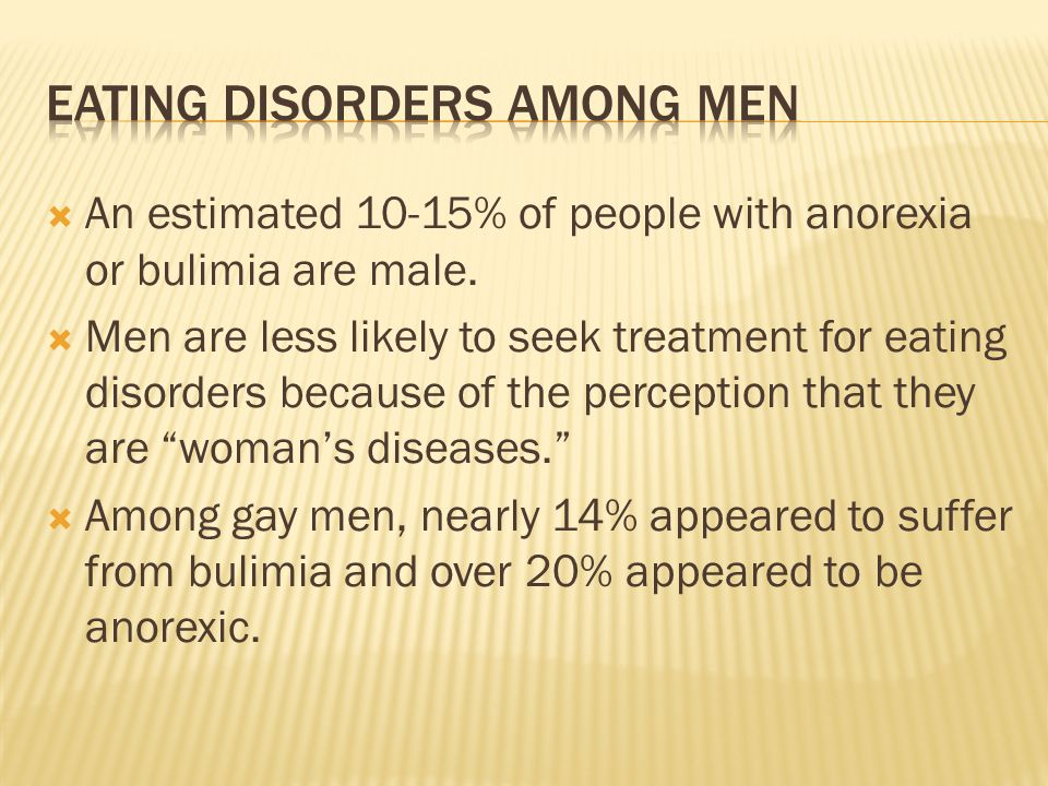 Eating disorders among men
