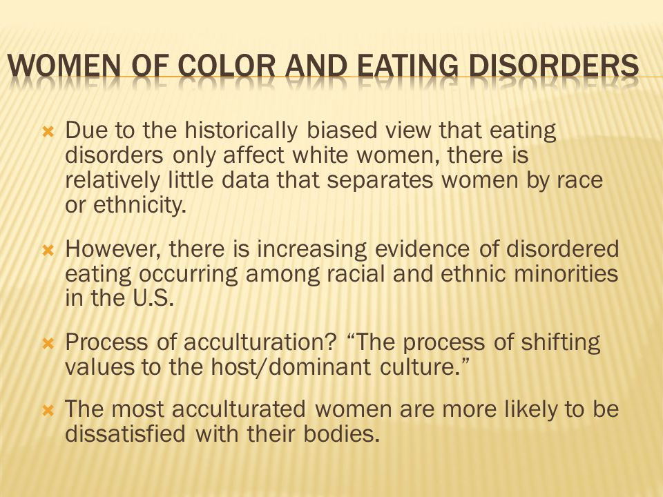 Women of color and eating disorders