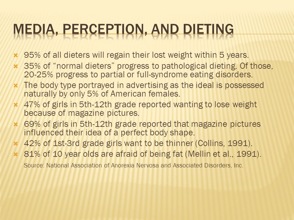 Media, perception, and dieting