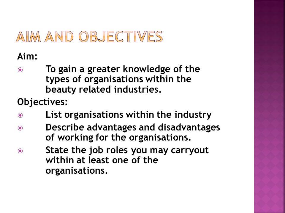 Aim and Objectives Aim: