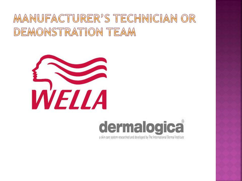 Manufacturer's technician or demonstration team