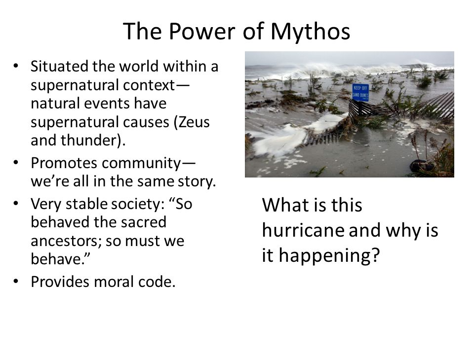 The Power of Mythos What is this hurricane and why is it happening
