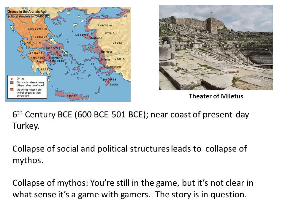 6th Century BCE (600 BCE-501 BCE); near coast of present-day Turkey.