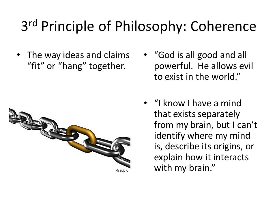 3rd Principle of Philosophy: Coherence