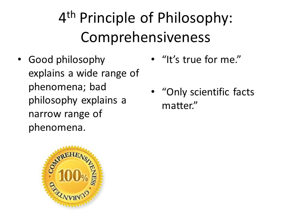 4th Principle of Philosophy: Comprehensiveness