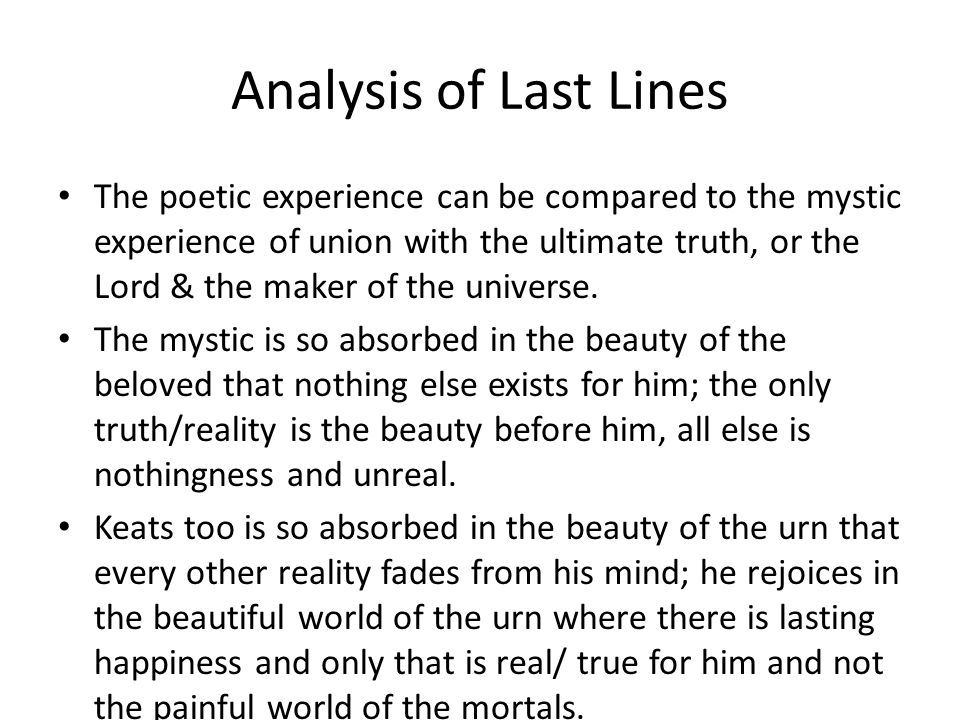 Analysis of Last Lines