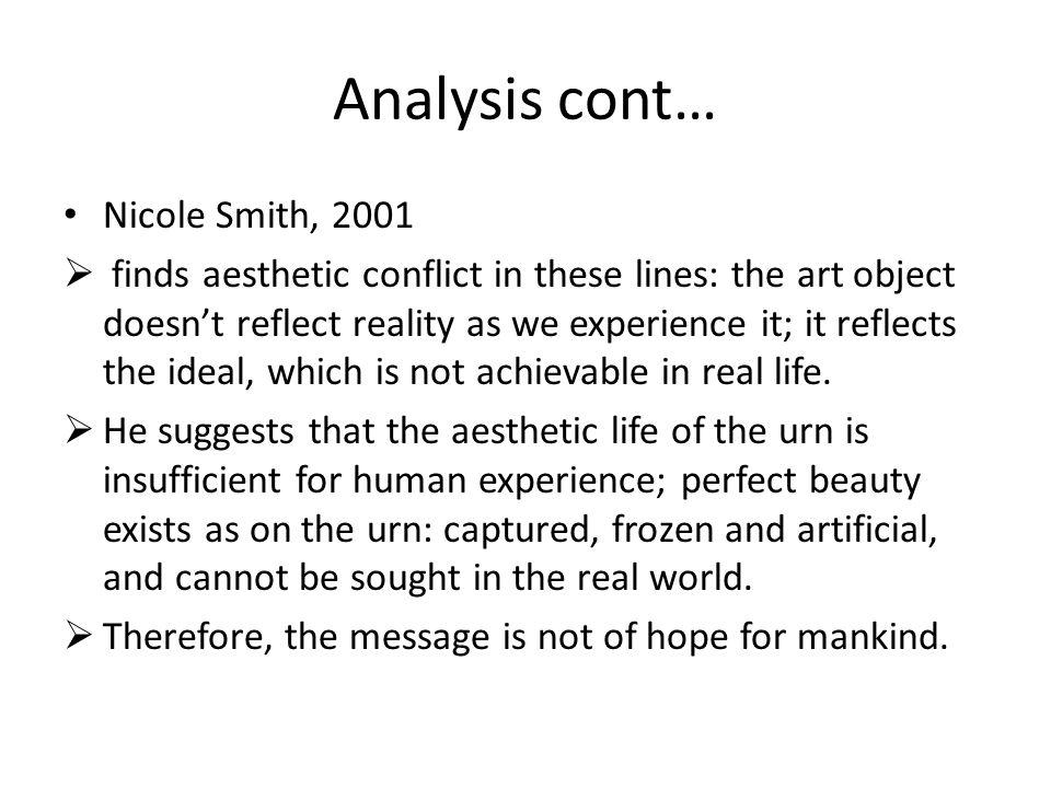 Analysis cont… Nicole Smith, 2001