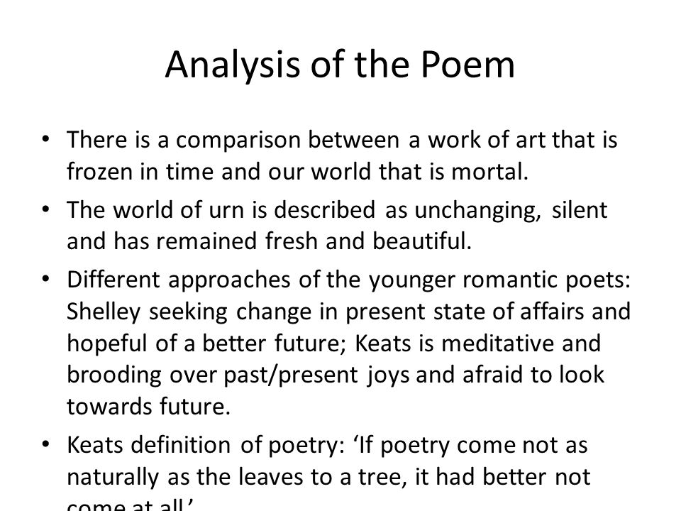 comparison of keats and shelley Selected poems of shelley a guide to the percy bysshe shelley.