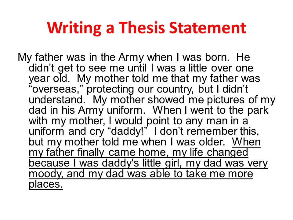 exercises on writing a good thesis statement Writing thesis statements 2 position on a debatable issue in other words, when you write a thesis statement, you take a stand about something.