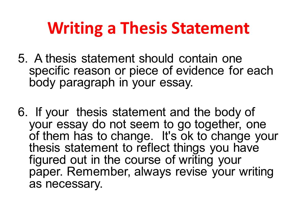 Essay On Library In English Writing A Thesis Statement Essays On Science And Religion also Yellow Wallpaper Analysis Essay Writing A Thesis Statement  Ppt Video Online Download High School Essays Topics