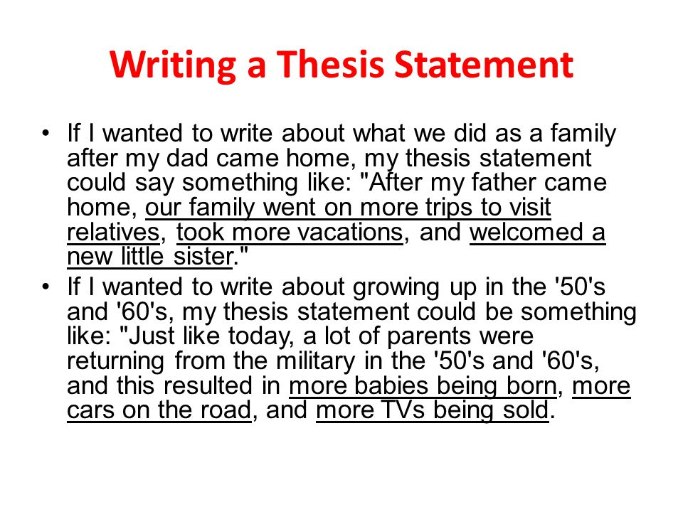 thesis statement on family Thesis statement and outline essay sample what is your thesis statement hate crimes have been around for years, and with the recent rise in them much can be done to reduce this type of crime.