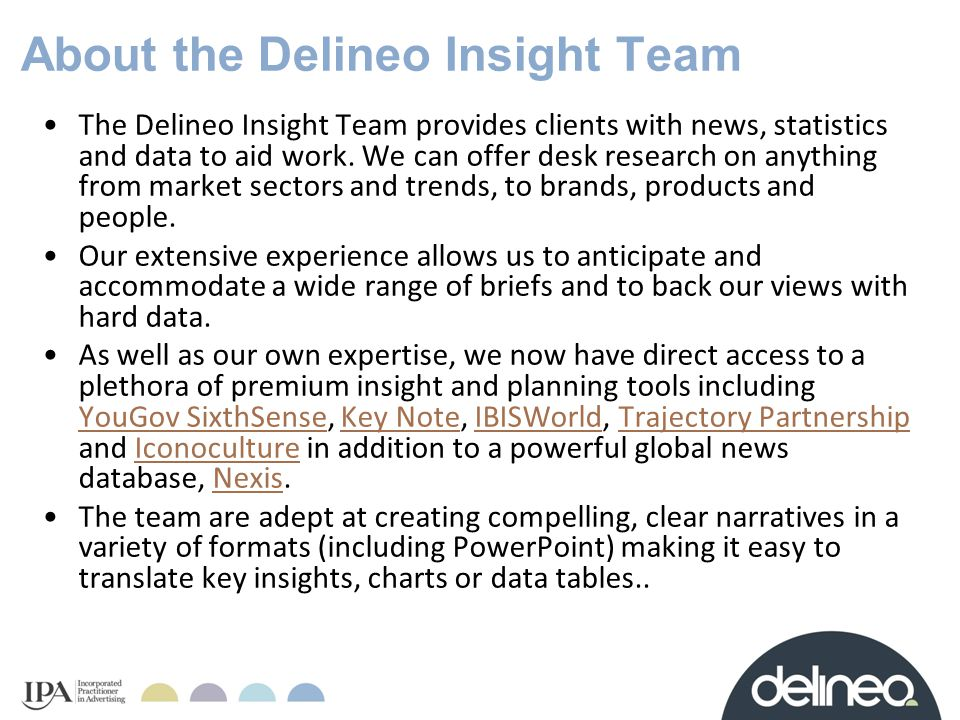 About the Delineo Insight Team