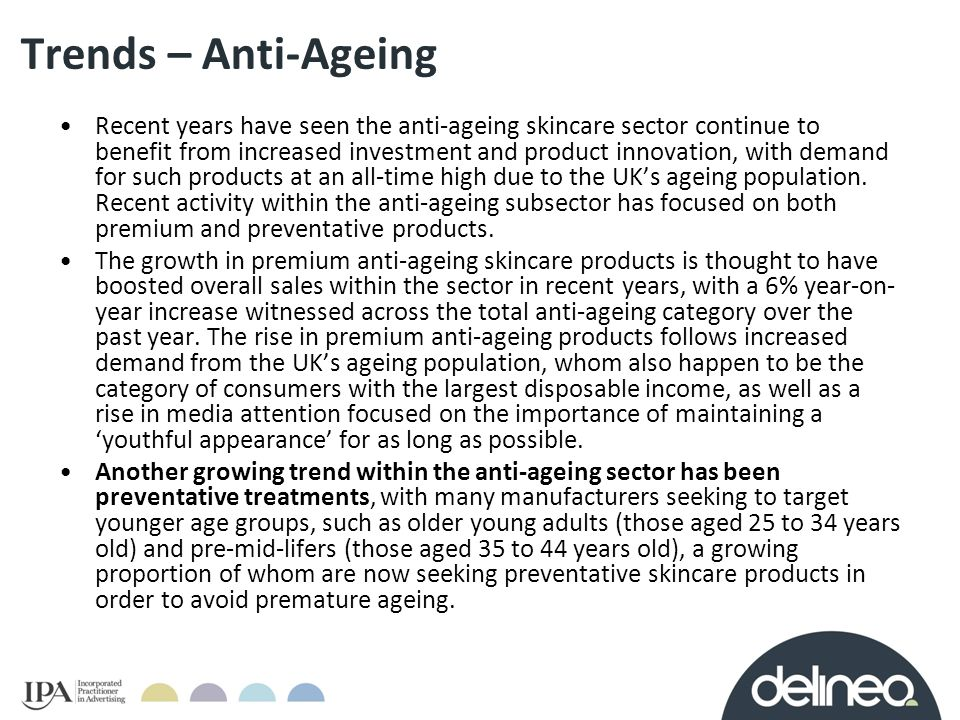 Trends – Anti-Ageing