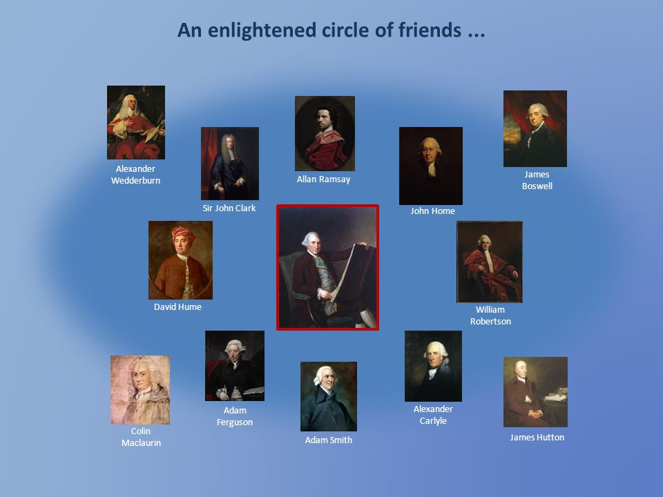An enlightened circle of friends ...
