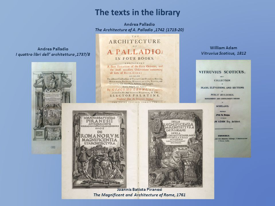 The texts in the library