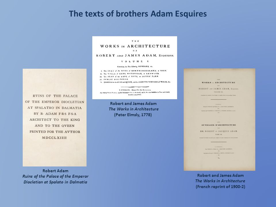 The texts of brothers Adam Esquires