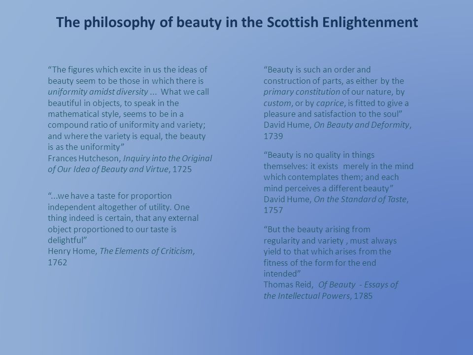 The philosophy of beauty in the Scottish Enlightenment