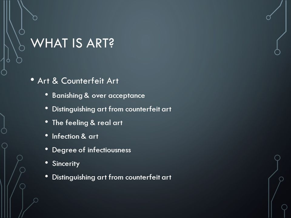 What is Art Art & Counterfeit Art Banishing & over acceptance