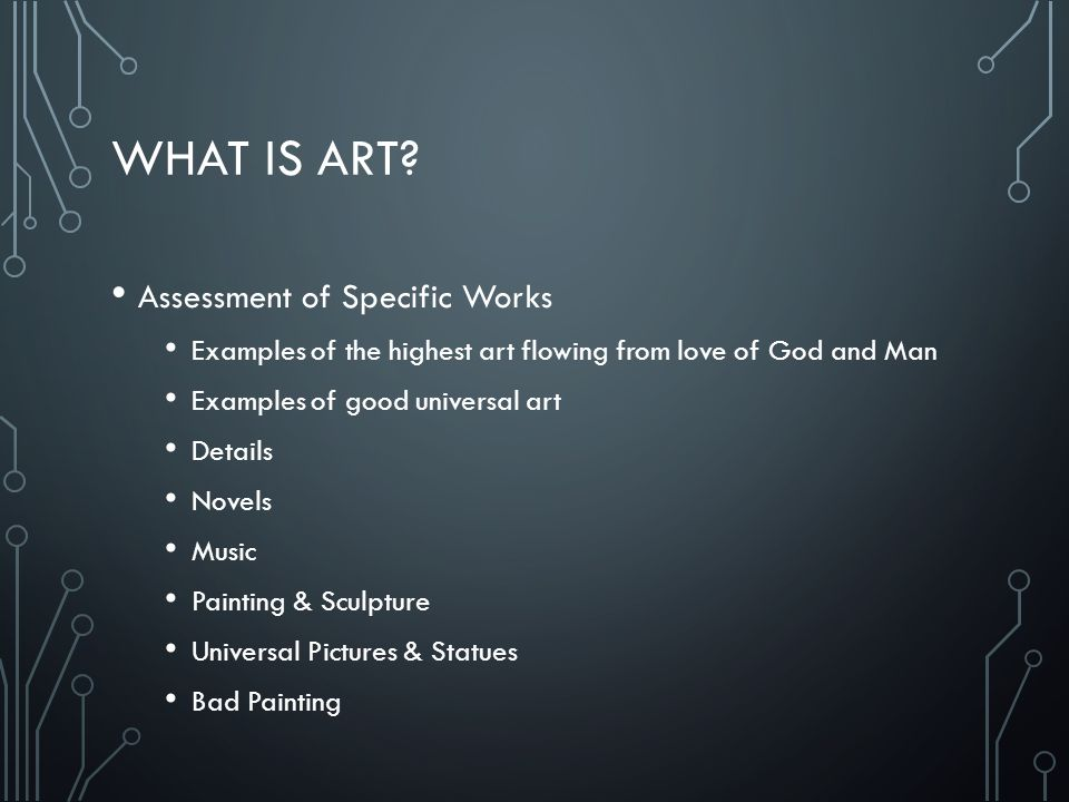 What is Art Assessment of Specific Works