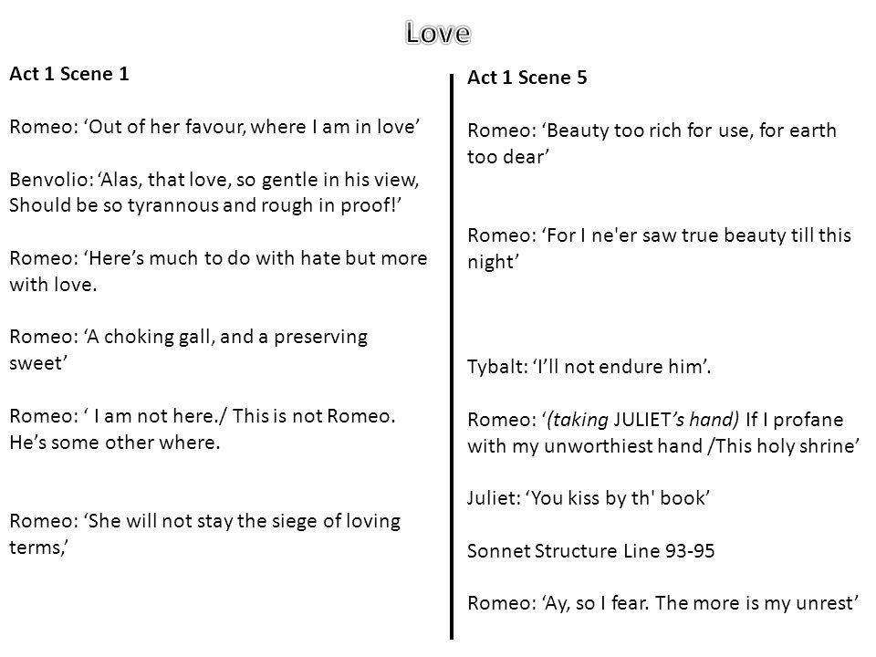 Love Act 1 Scene 1 Act 1 Scene 5