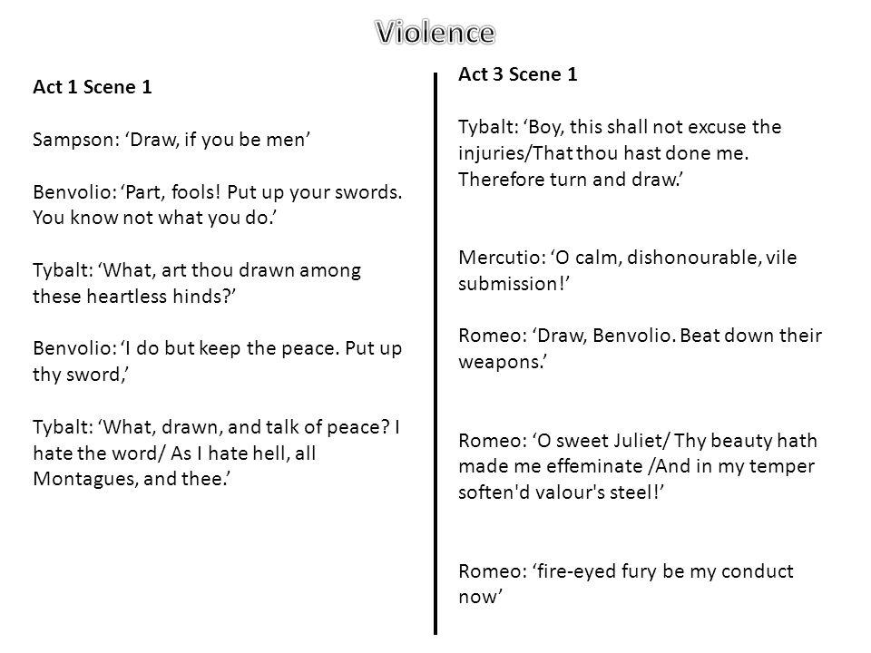 Violence Act 3 Scene 1 Act 1 Scene 1
