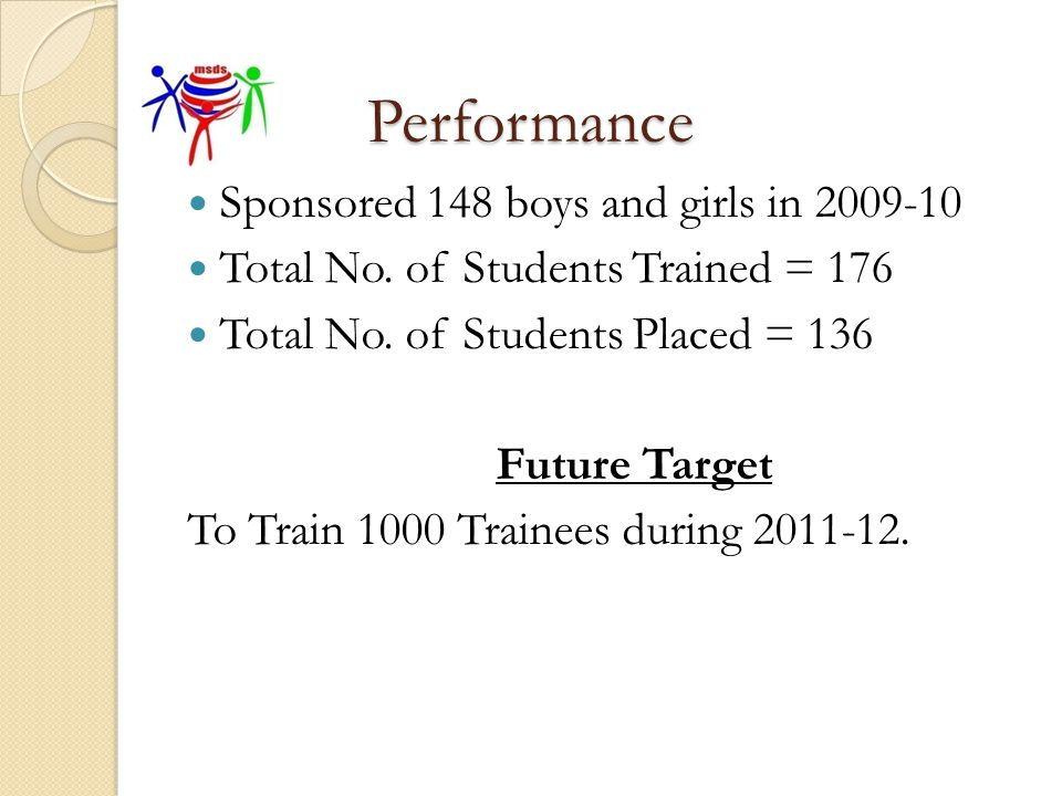 Performance Sponsored 148 boys and girls in 2009-10
