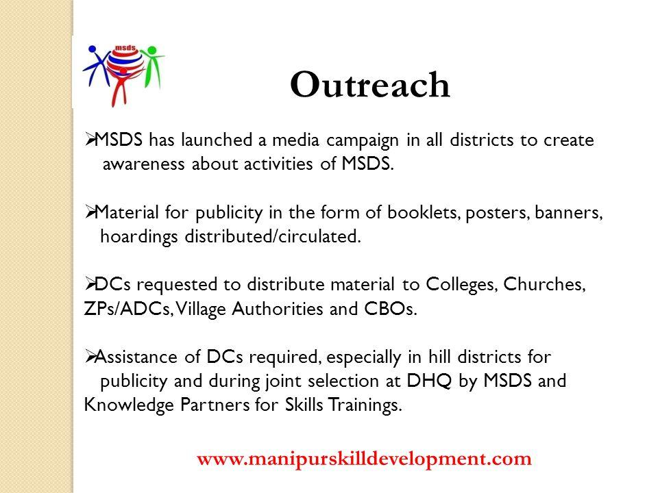 Outreach www.manipurskilldevelopment.com