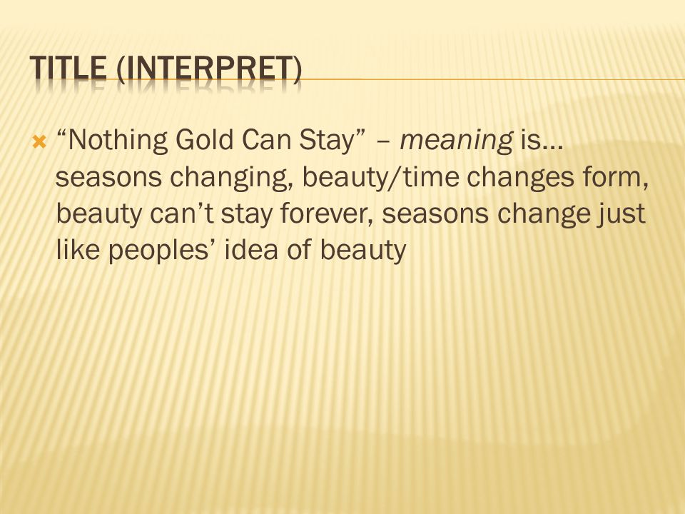 Title (interpret)