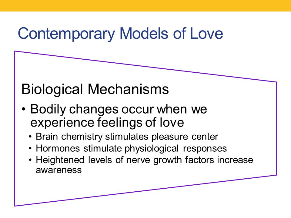 Contemporary Models of Love