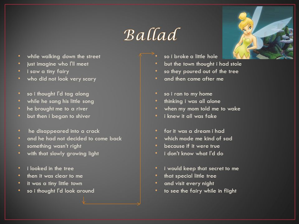Ballad while walking down the street just imagine who I ll meet