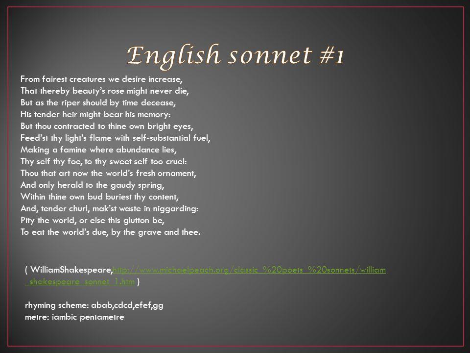 English sonnet #1
