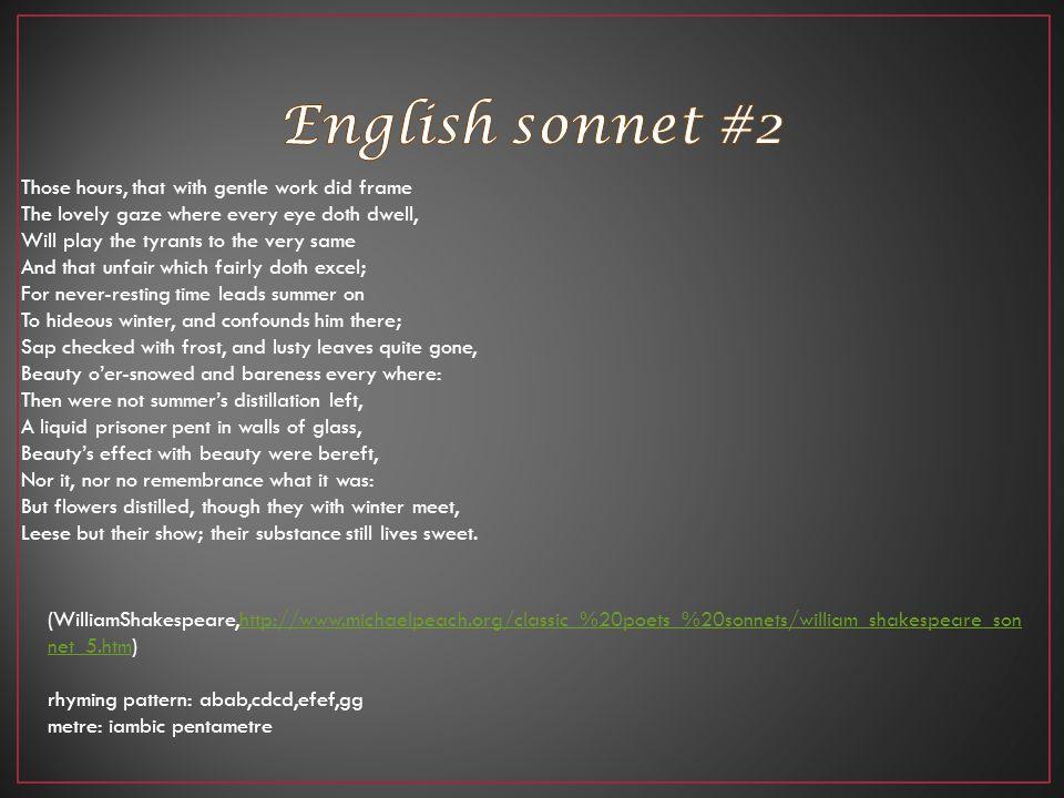 English sonnet #2