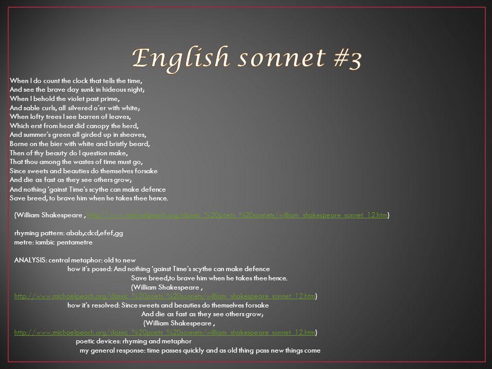 English sonnet #3