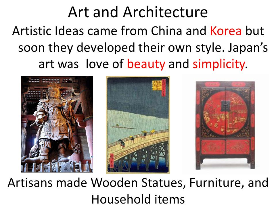 Artisans made Wooden Statues, Furniture, and Household items